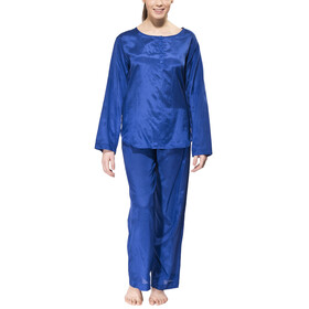 Traveler's Tree Travel Pyjama Women 1001 blue